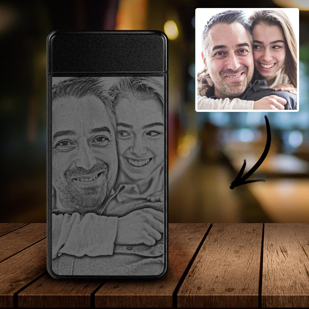 Custom Engraved Photo Lighter, Personalized Electric Lighter, Best Christmas Gift For Him