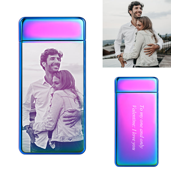 Plating Purple | Custom Engraved Photo Lighter | Electronic Cigarette Lighter