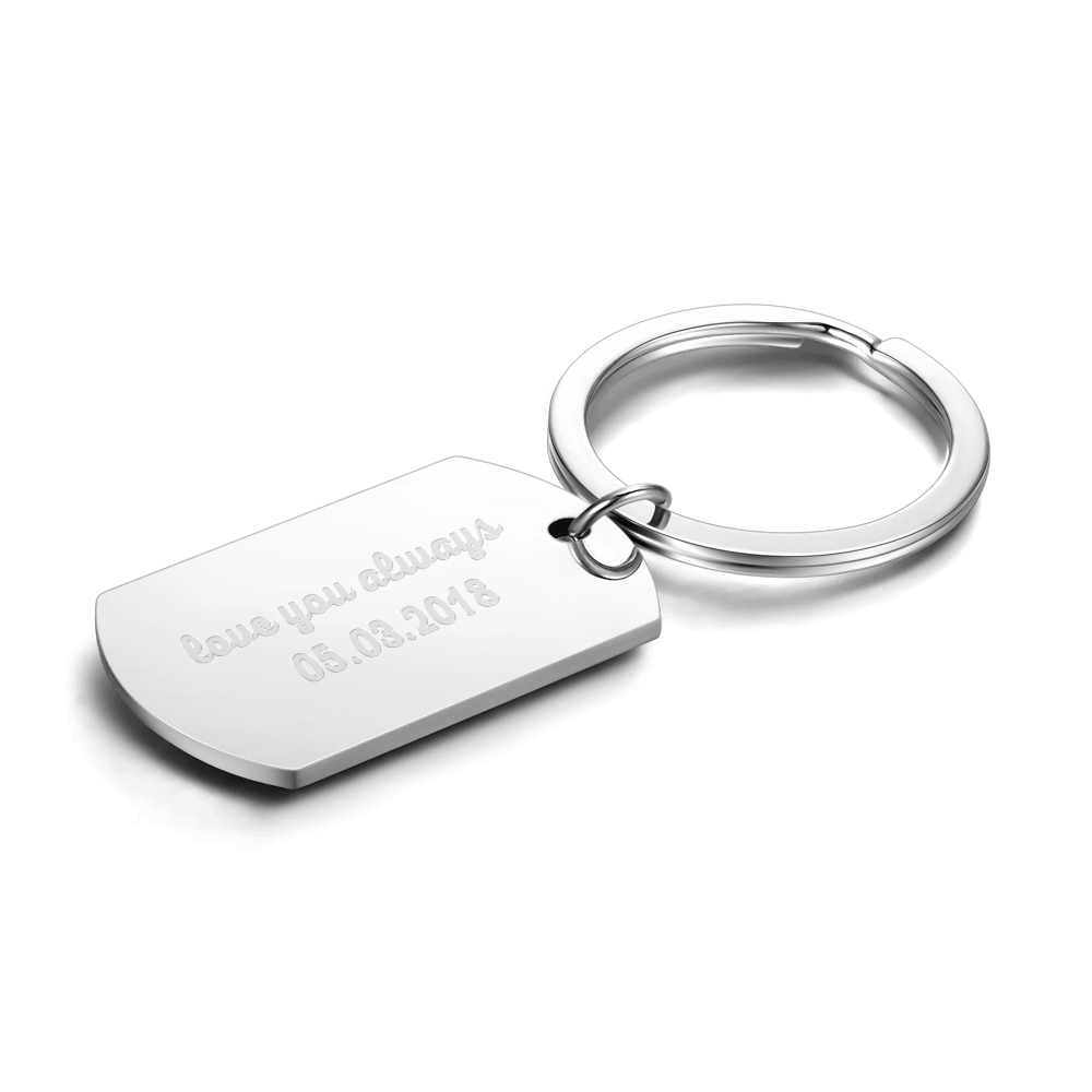 Custom Stainless Steel Engraving Keychain