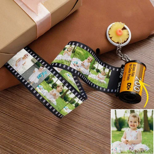 Custom Photo Keychain | Personalized MultiPhoto Camera Roll Keychain | Best Gift For Family