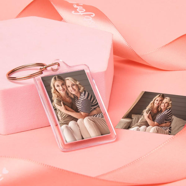 Custom Rectangle Photo Keychain