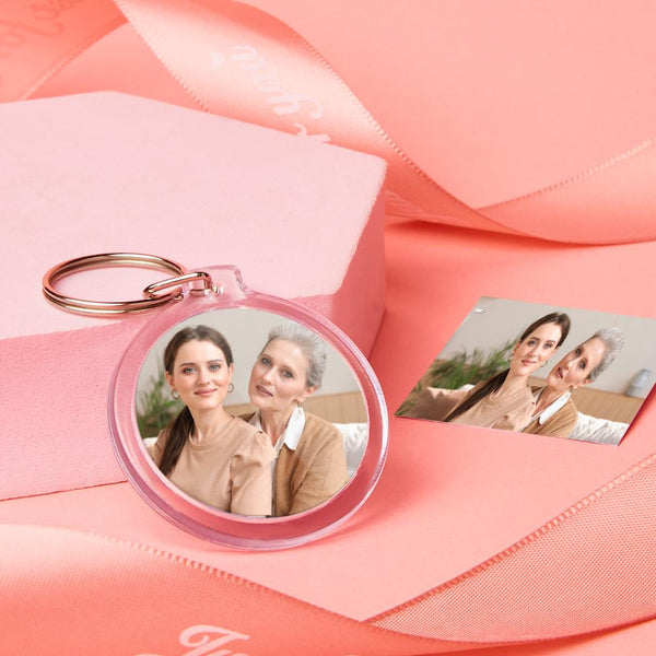 Custom Round Shape Photo Keychain