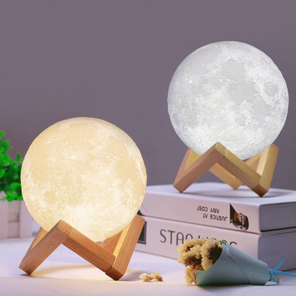 3D Printing Moon Lamp Rechargeable Touch/Tap