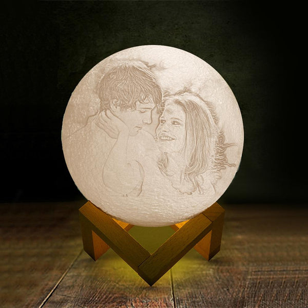 MyPhotoLighter, Custom  Moon Lamp,3D Print and Engraved Lamp