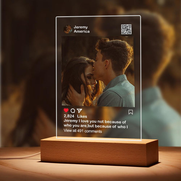 Editable - Smooth /Matt Custom Instagram Night Light