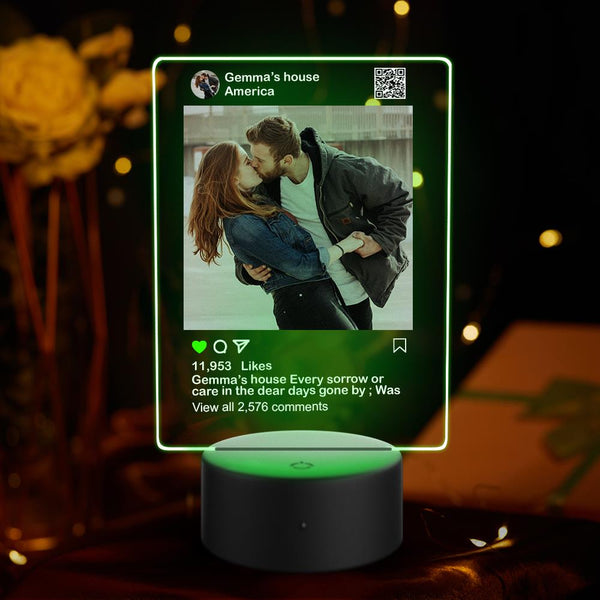 Editable - Custom Instagram Night Light With 7 Colors