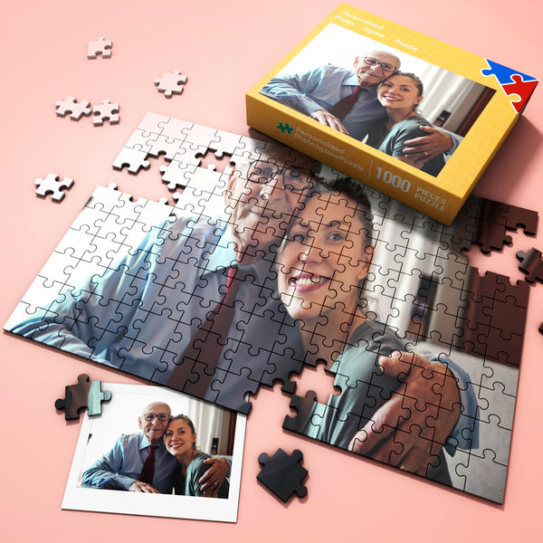 Personalized Jigsaw Puzzle from Photo Happy Father's Day-35-1000 pieces