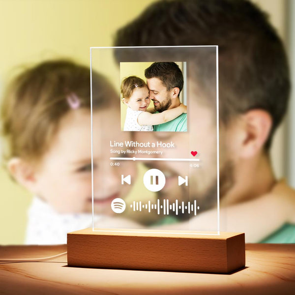 Custom Spotify Music Plaque Night Light/Keychain/Plaque Father's Day Gift