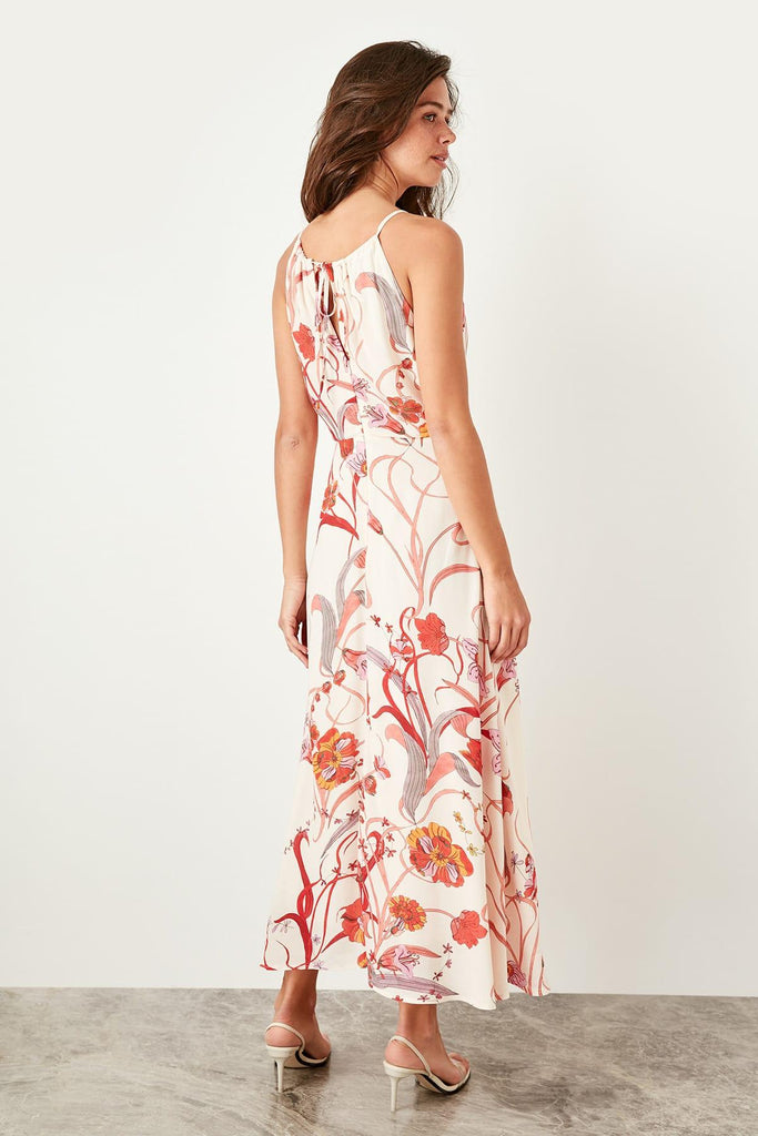 Big Adventure Ahead Printed Maxi Dress