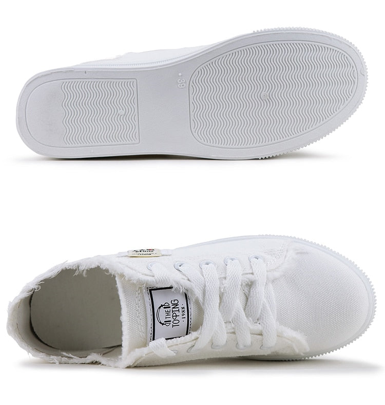 Lace up Superstar Canvas Sneakers