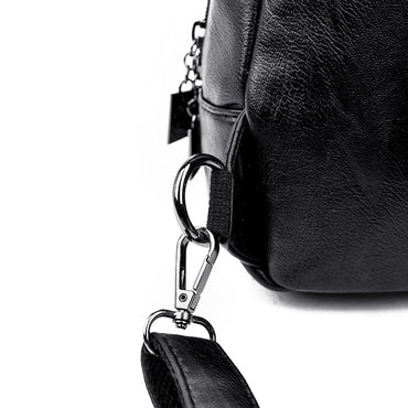Leather Vintage Female Shoulder Backpacks