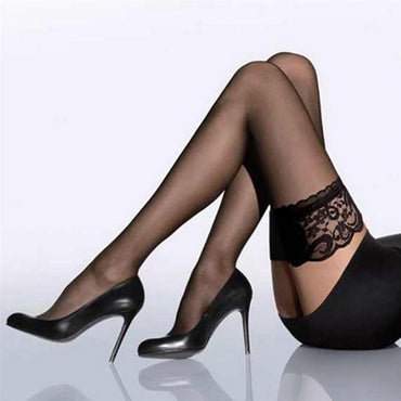 Hosiery Nylon Lace Style Stay Up Stockings Women's Socks
