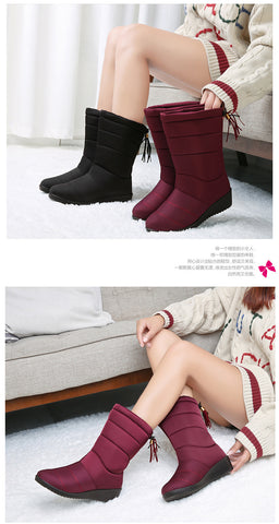 Waterproof Winter Mid Calf Down Boots