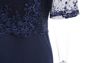 Elegant Lace Evening Party Dress
