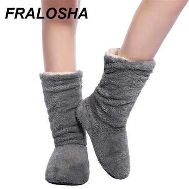 Plush Home Warmer Soft bottom slippers