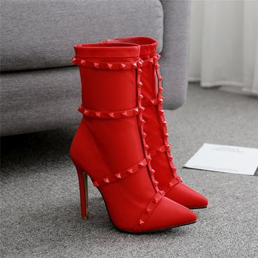 Luxury Stiletto Ankle Boots
