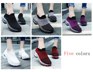 Breathable Mesh Slip on Platform Sneakers