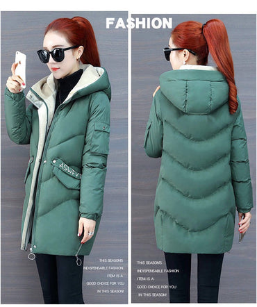 Cotton Padded Warm Coat Winter Hooded Jacket