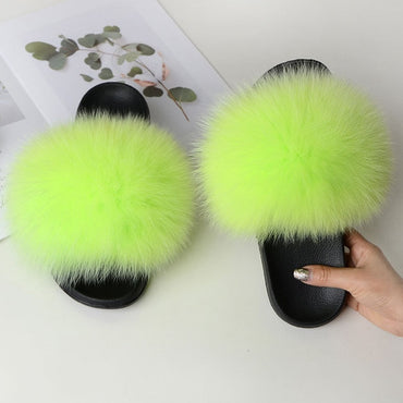 Fox Fur Women Slippers