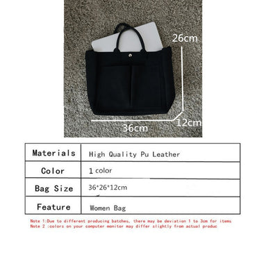 Leather laptop Bag Simple Handbags