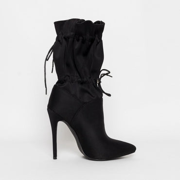 Lace Up Camouflage Night Club Ankle Boots