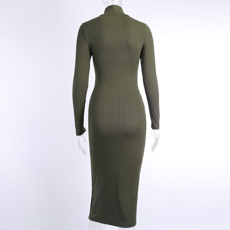 Elegant Long Sleeve Sexy Knee Length Party Dress