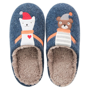 Cute Warm Fox Fur Slippers