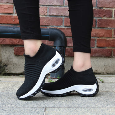 Slip on Platform Breathable Mesh Sock Sneakers