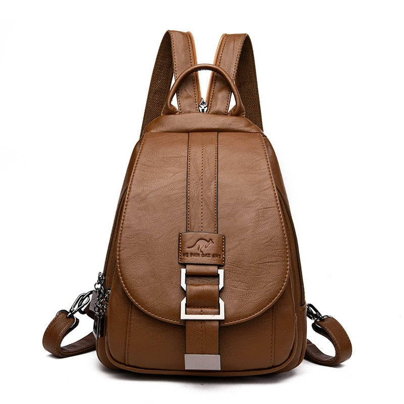 Leather Women Shoulder Bags Backpack