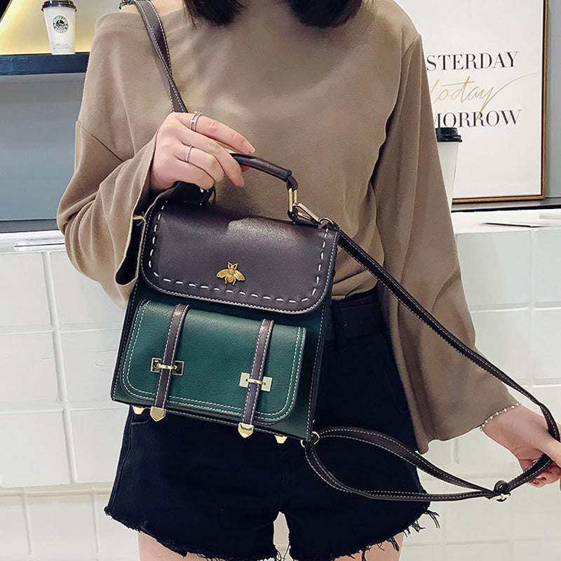 Leather High Quality Women Classic Bags Backpack