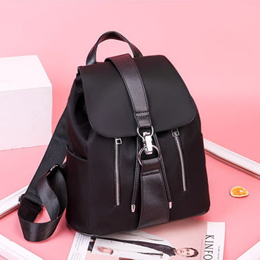 Nylon Zipper Lock Design Women Backpack