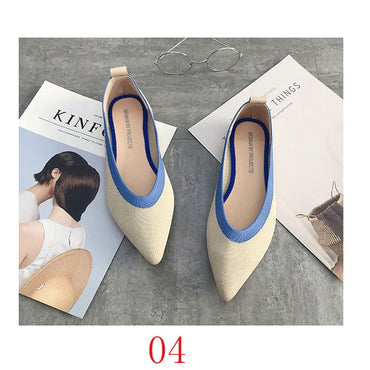 luxury Casual Flats Shallow Mouth Pointed Shoes