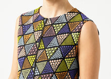 Load image into Gallery viewer, Triangle Sleeveless Dress in Multi