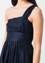 Load image into Gallery viewer, One Shoulder Dress in Navy