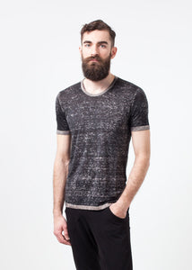 Linen T-shirt in Rope