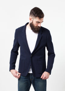 Cotton Jacket in Navy
