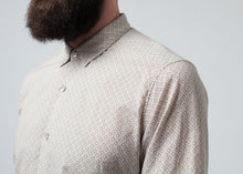 Load image into Gallery viewer, Patterned Button Up in Beige