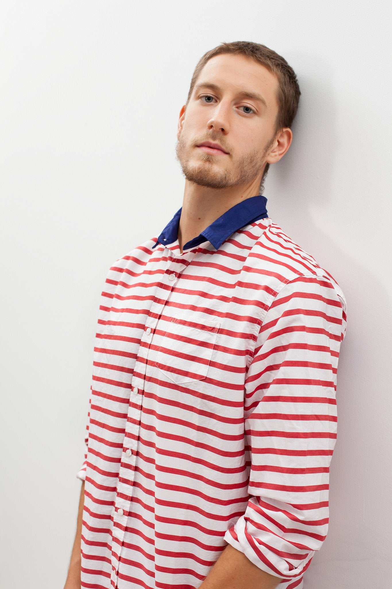Luke Shirt in Red Stripe