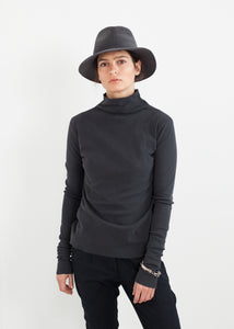 Cotton Long Tee in Ink