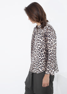 Madame L Blouse in Leopard