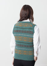 Load image into Gallery viewer, Fair Isle Vest in Army