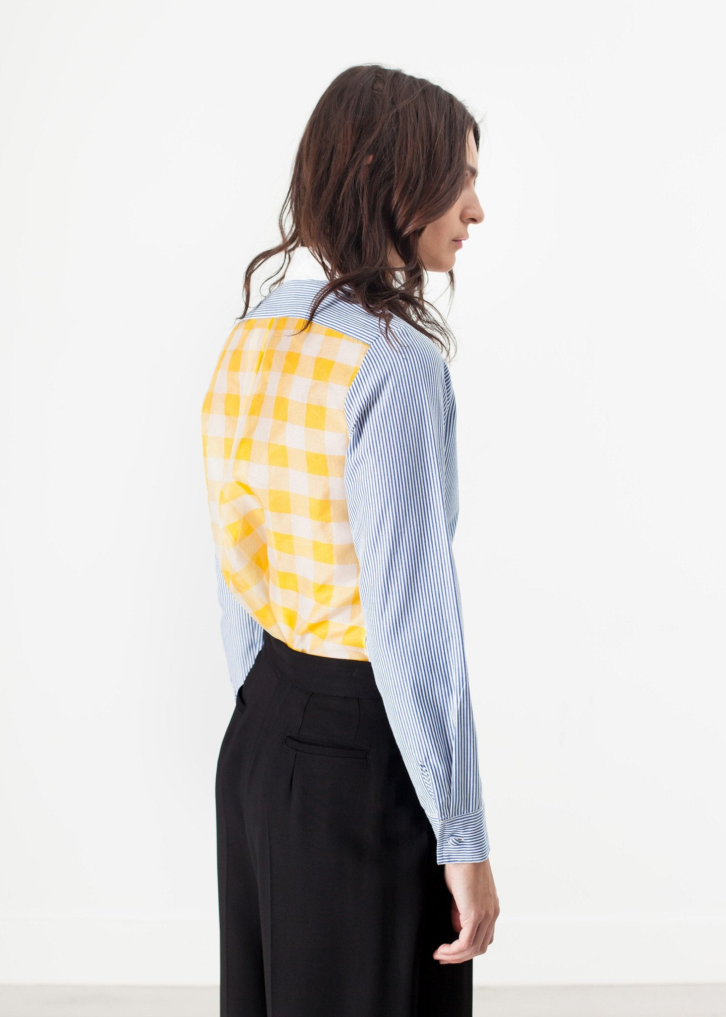 Longsleeve Blouse in Blue Stripe