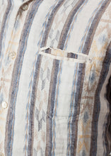 Load image into Gallery viewer, Linen Western Shirt in Beige/Blue