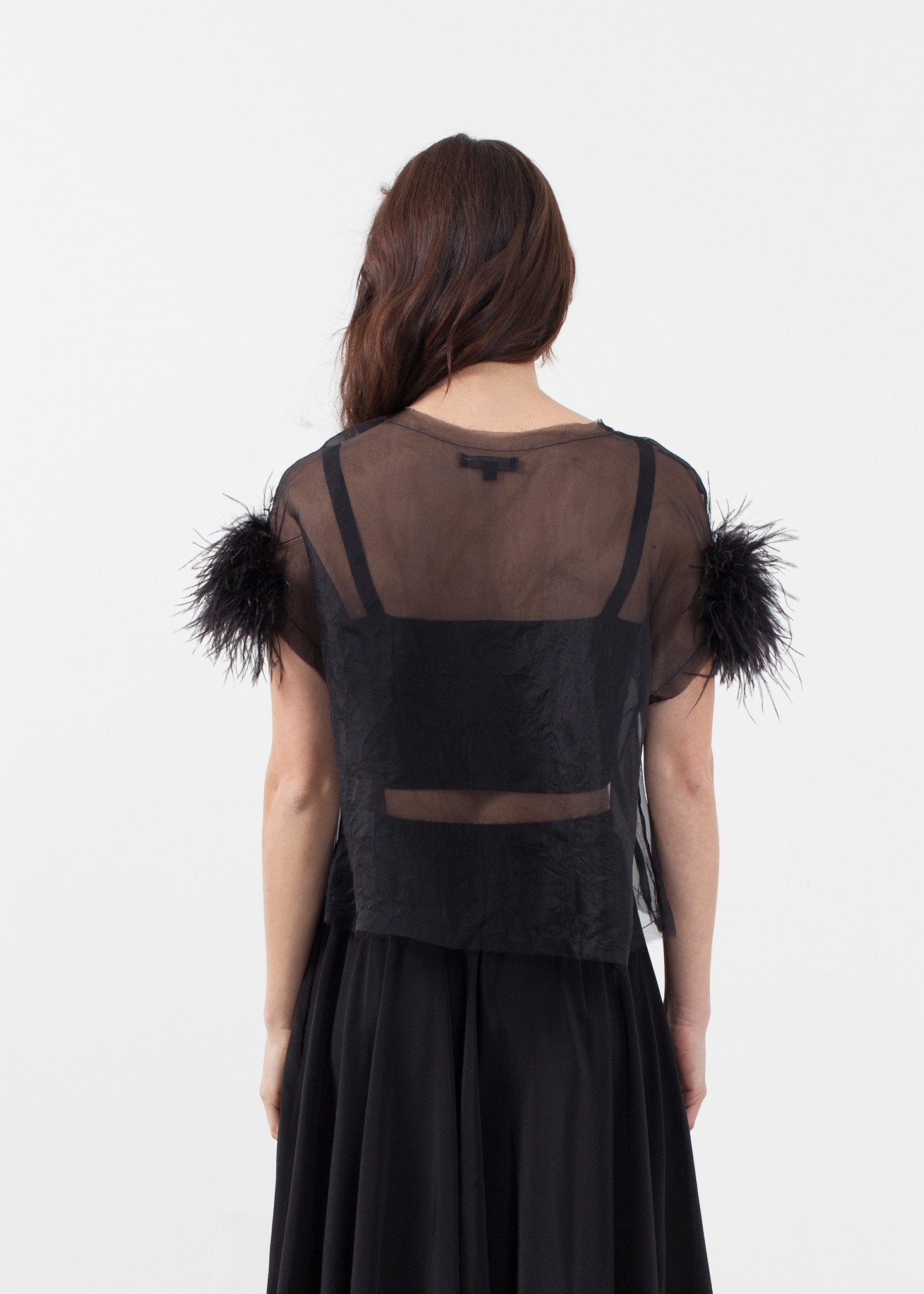 Organza Feather Top