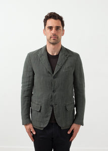 Five Button Cotton Blazer
