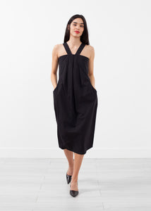 V-Strap Pocket Dress
