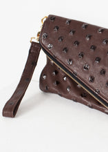 Load image into Gallery viewer, Roxanne Leather Clutch in Brown