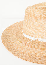 Load image into Gallery viewer, Wrapped Up Hat in Straw/White