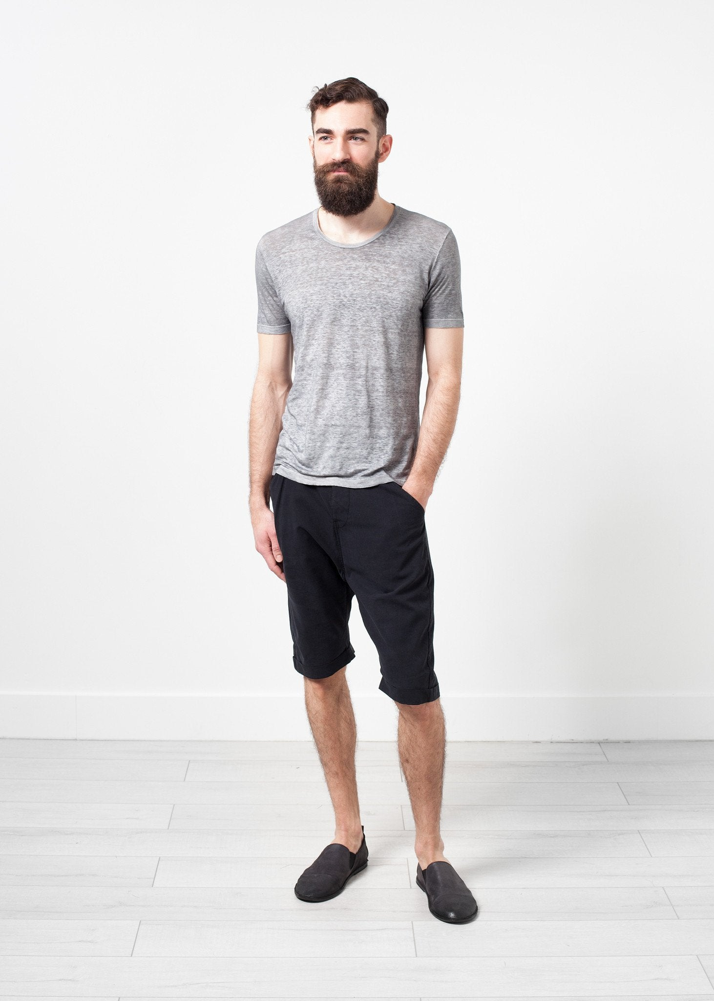 Linen T-shirt in Dolphin