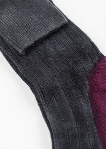 Cashmere Knit Sock in Grey